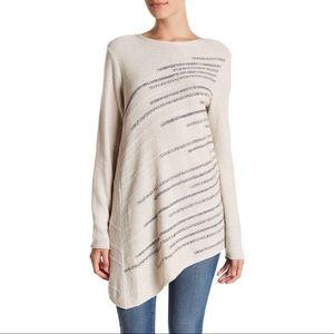 NIC+ Zoe Shooting Stars Asymmetrical Sweater Tunic